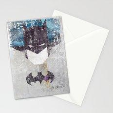 Bat grunge superhero Stationery Cards