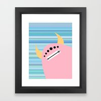 Pink Monster Framed Art Print