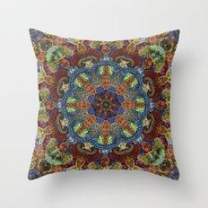 Hallucination Mandala 2 Throw Pillow