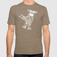 Grab Life Mens Fitted Tee Tri-Coffee SMALL