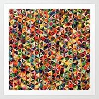 Star Cubes Geometric Art… Art Print