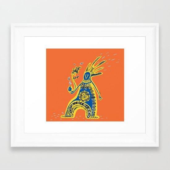Rasta Shaman Framed Art Print