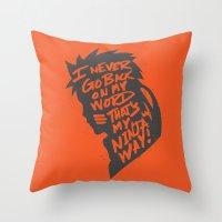 Will Of Team 7 [Orange] Throw Pillow