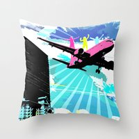 City Cloud Throw Pillow