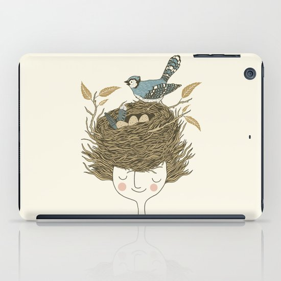 Bird Hair Day iPad Case