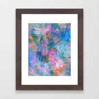 Waikiki Tropic {Aqua} Framed Art Print