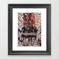Senza Gloria Framed Art Print
