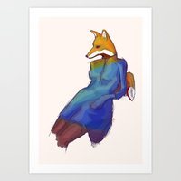 Lady Fox Art Print