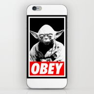 iPhone & iPod Skin featuring Obey Yoda - Star Wars by Yiannis
