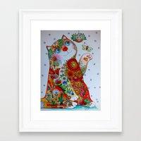 Botanical Cat Framed Art Print