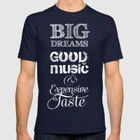 BIG DREAMS Mens Fitted Tee Navy SMALL