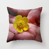 Pickin' Wild Flowers Throw Pillow
