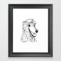 Greyhound Graphic Framed Art Print