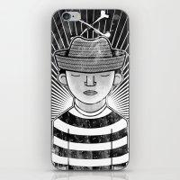 Fisher Man B/W iPhone & iPod Skin