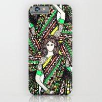 woman with sari mandala iPhone 6 Slim Case