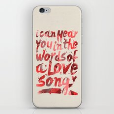 words of a love song iPhone & iPod Skin