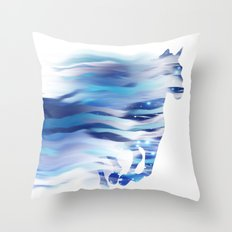 Horse whispered by the wind Throw Pillow