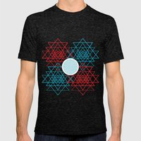 Geometrical 001  Mens Fitted Tee Tri-Black SMALL