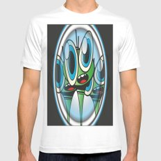 Raindrop Wars White SMALL Mens Fitted Tee