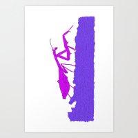 Pink Praying Mantis Art Print