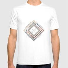 Artist's Mantra White SMALL Mens Fitted Tee