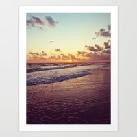 Sunset At Sanibel Art Print