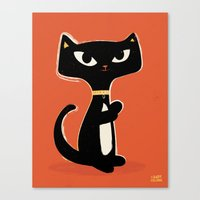 Suspiciously Cute Black … Canvas Print