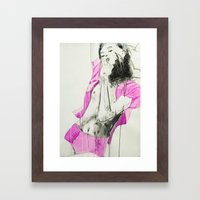 Always calm and unemotional in her judgements Framed Art Print