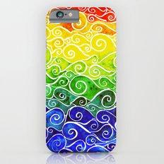 Rainbow Water Waves Slim Case iPhone 6s