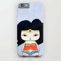 iPhone Cases featuring A Girl - Wonder W by Christophe Chiozzi