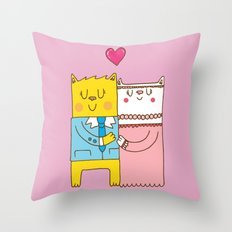 Married cats Throw Pillow