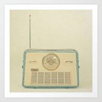 Radio Days Art Print