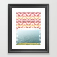 AZTEC 'Beyond The Sea' 1… Framed Art Print