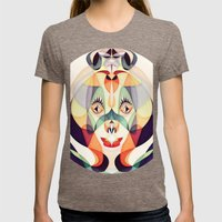 Ea Womens Fitted Tee Tri-Coffee SMALL