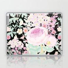 Flower Bouquet in Black Laptop & iPad Skin