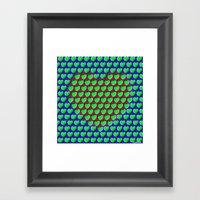 E-MOTION: Moving Hearts Framed Art Print