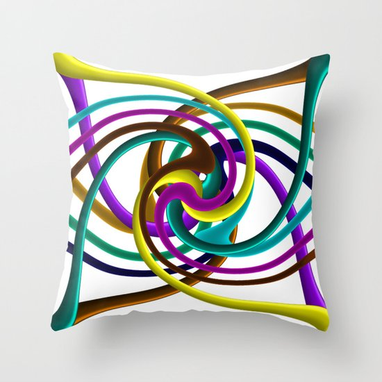 Tubes of colour  Throw Pillow