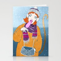 Ice Monkey Stationery Cards