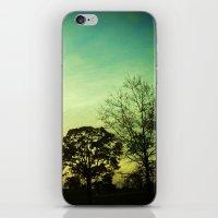 Orange Green Blue Sky iPhone & iPod Skin