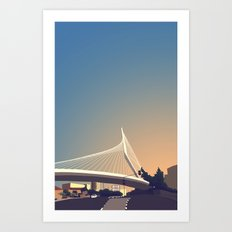 Calatrava Bridge Jerusalem Art Print