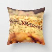 Spicy world Throw Pillow
