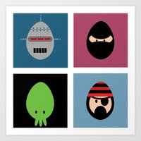 Robot Ninja Cthulhu Pira… Art Print