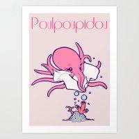 Poulpoupidou Art Print