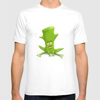 Log In A Frog Mens Fitted Tee White SMALL