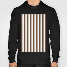 Vertical Stripes (Coffee/White) Hoody