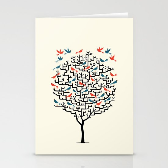 Out On a Lark Stationery Card