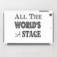 All the world's a stage William Shakespeare Typography iPad Case