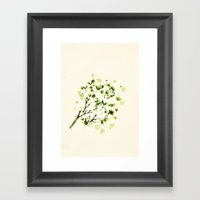 Green tickles - Botanical Print Framed Art Print