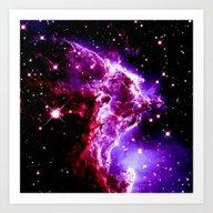Nebula Pink Purple Art Print