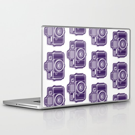 I Still Shoot Film Holga Logo - Deep Purple Laptop & iPad Skin